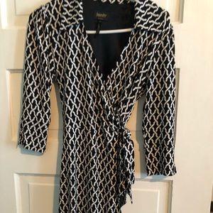 Black and White shift dress!